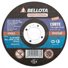 DISCO C METAL/INOX EJE FINO BELLOTA 115X1 MM