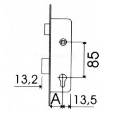 CERRADURA EMBUTIR MET INOX TESA 20 MM