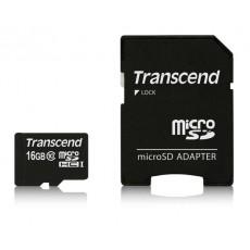TARJETA  MICRO SDHC+ADAPTADOR TRANSCEND 16 GB
